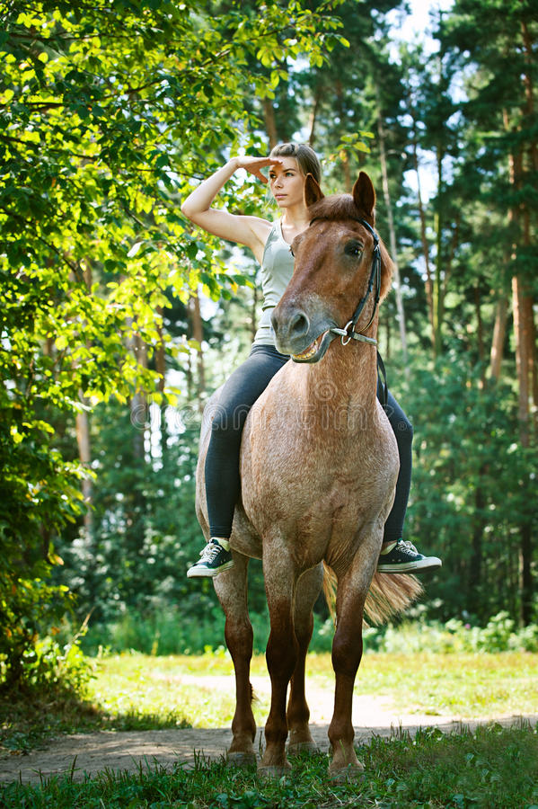 Download Beautiful Young Woman On Horseback Stock Photography - Image: 26672432