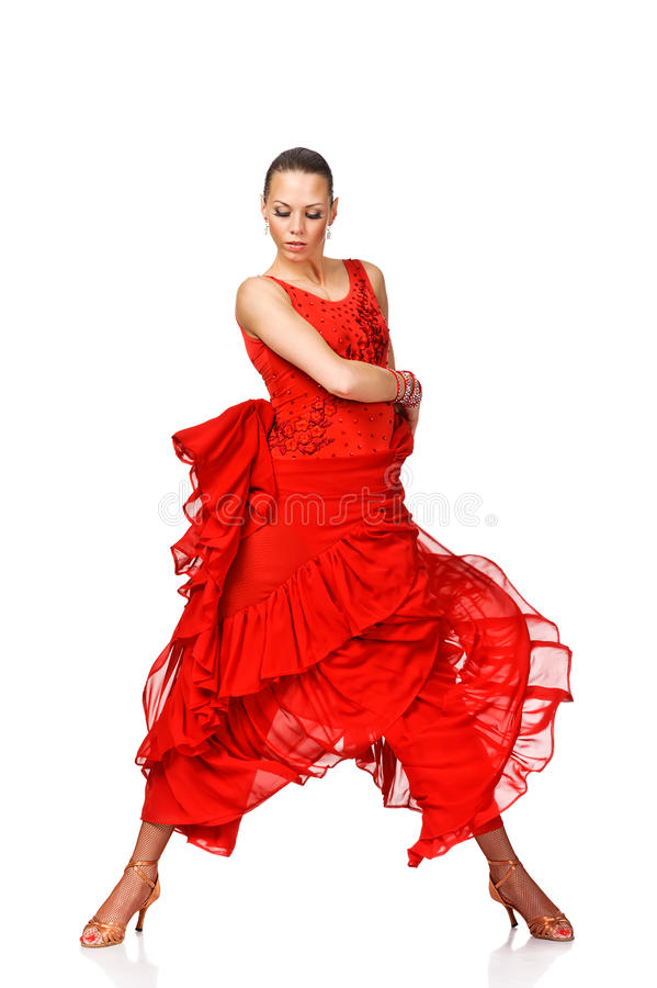 Free Beautiful Young Woman Latino Dancer In Action. Iso Royalty Free Stock Photography - 29990257