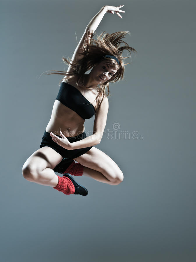Download Beautiful Young Woman Leap Jump Stock Photo - Image: 24769910