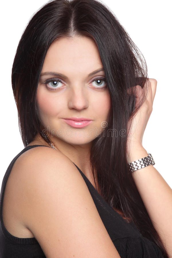Download Beautiful Young Woman With Long Straight Hair Stock Image - Image: 22034561