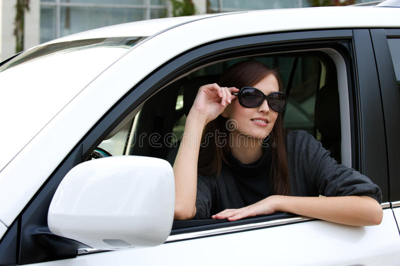 Download Beautiful Young Woman In The New Car Stock Image - Image: 16871495