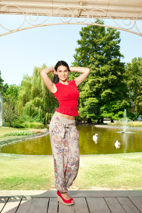 Download Beautiful Young Woman In Park Stock Photo - Image: 20914180
