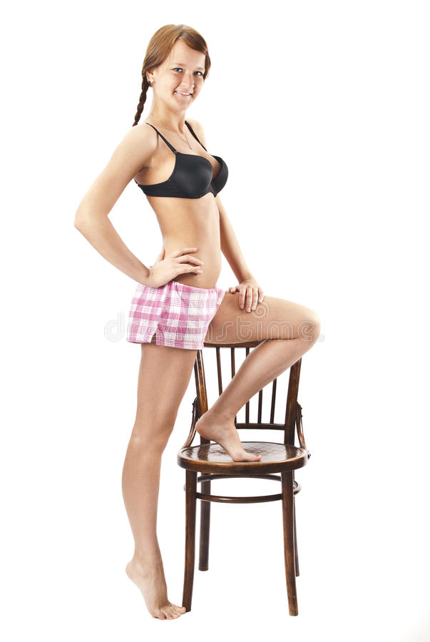 Download Beautiful Young Woman In Pink Shorts Stock Photo - Image: 20943316