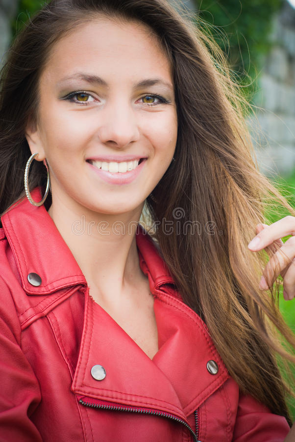 Beautiful young woman portrait royalty free stock photos