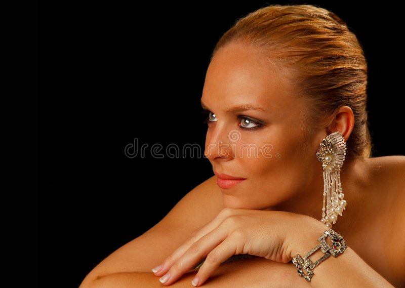 Beautiful Young Woman Portrait Stock Images