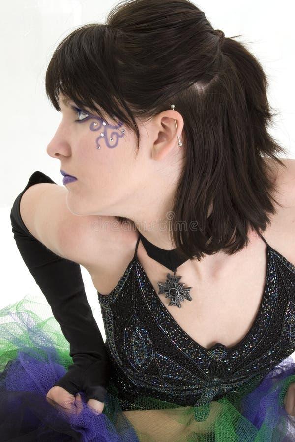 Beautiful Young Woman Profile royalty free stock photo
