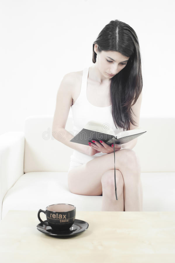 Download Beautiful Young Woman Reading A Book Stock Image - Image: 17918563