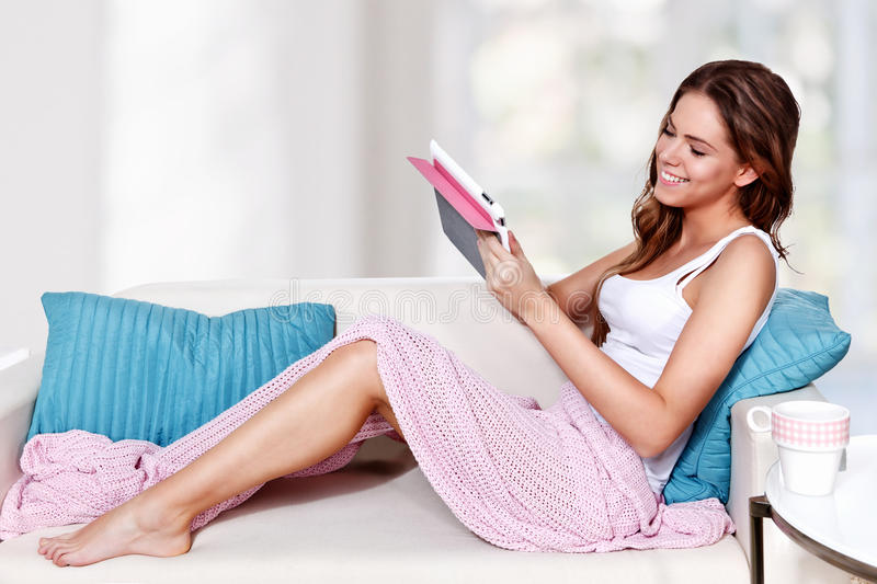 Download Beautiful Young Woman Relaxing Stock Image - Image: 34982663