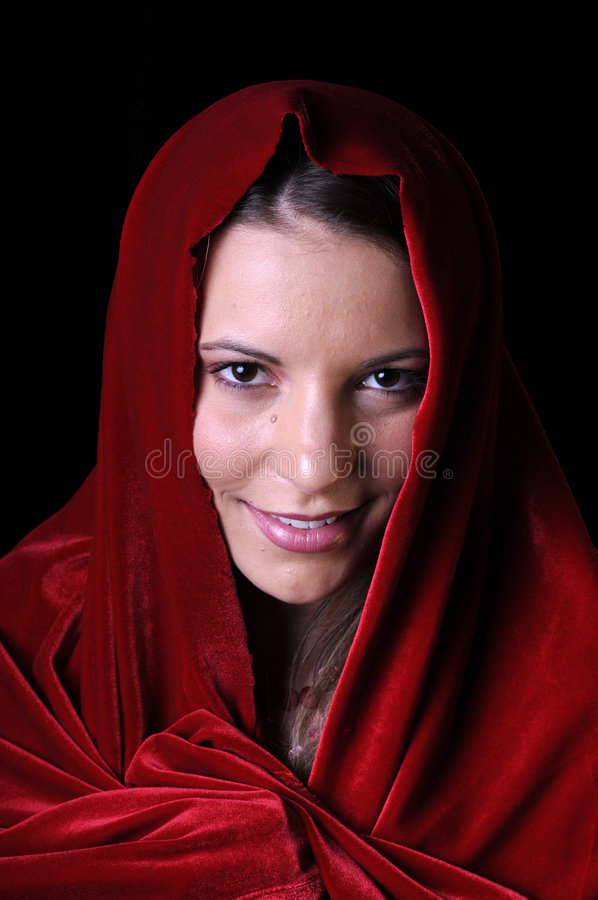 Download Beautiful Young Woman With Shawl Stock Image - Image: 6638905
