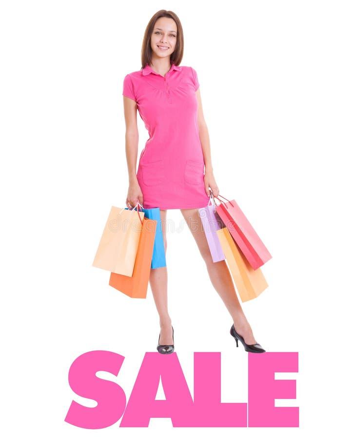 Beautiful Young Woman Shopping Royalty Free Stock Image