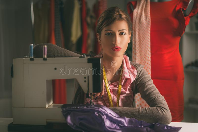 Young Fashion Designer Thinking stock photo