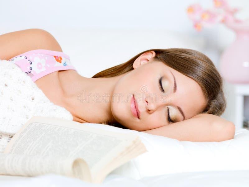 Download Beautiful Young Woman Sleeps Stock Photo - Image: 17134730
