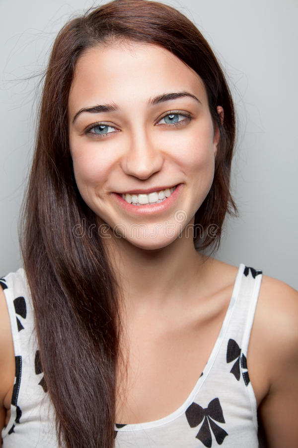 Beautiful young woman smiling royalty free stock images