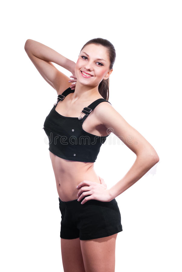 Beautiful Young Woman in sport suit isolated royalty free stock photos