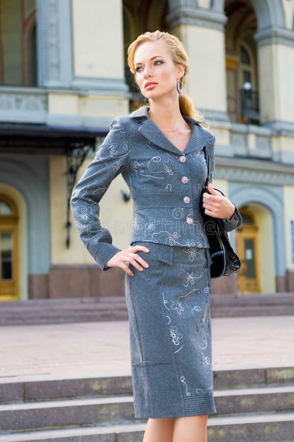 Download Beautiful Young Woman In Suit Stock Image - Image of lovely, pretty: 7916607