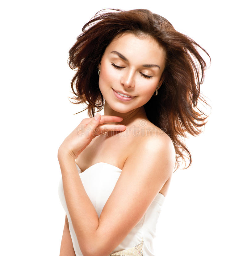 Download Woman touching Her Skin stock photo. Image of cosmetic - 30312820