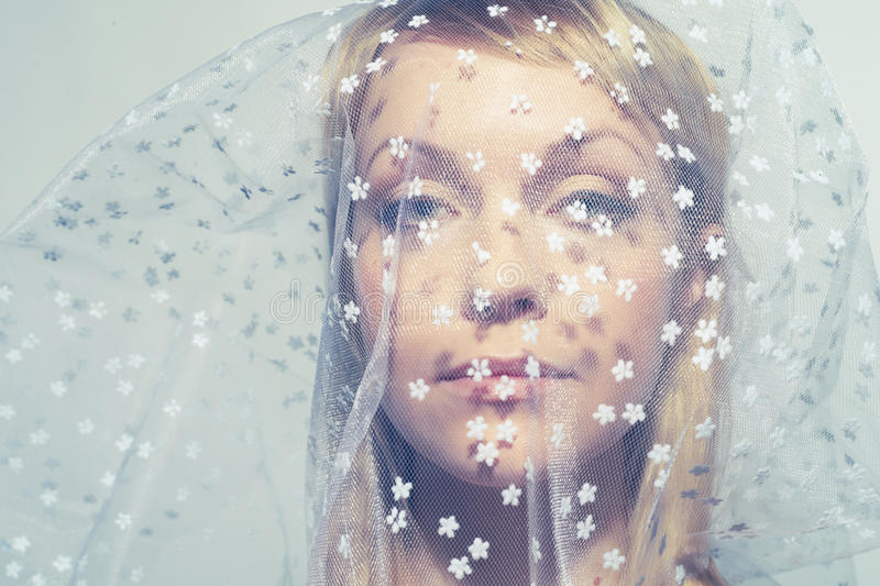 Download Beautiful Young Woman Under A Veil Royalty Free Stock Photos - Image: 23687148