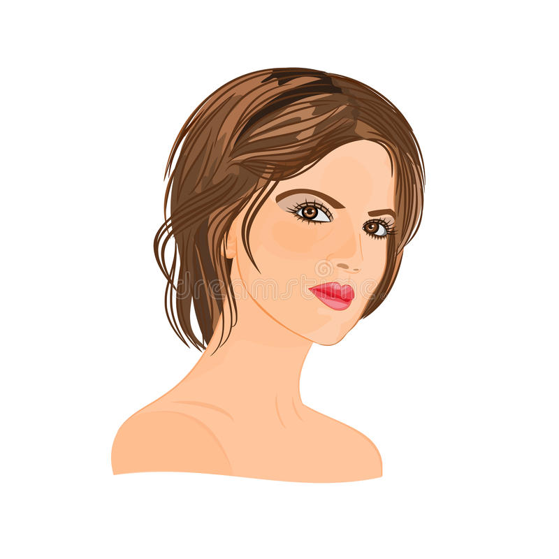 Beautiful young woman vector illustration royalty free illustration