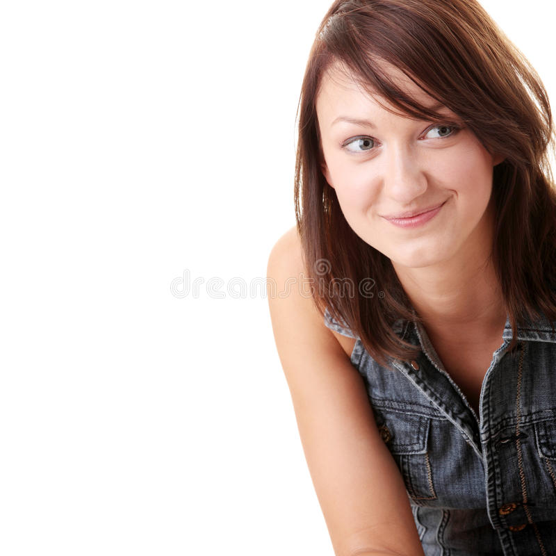 Download Beautiful Young Woman Wearing Blue Jump Suit Stock Photo - Image: 10626126