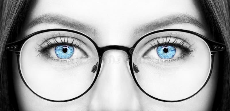 Beautiful young woman wearing glasses. royalty free stock photo