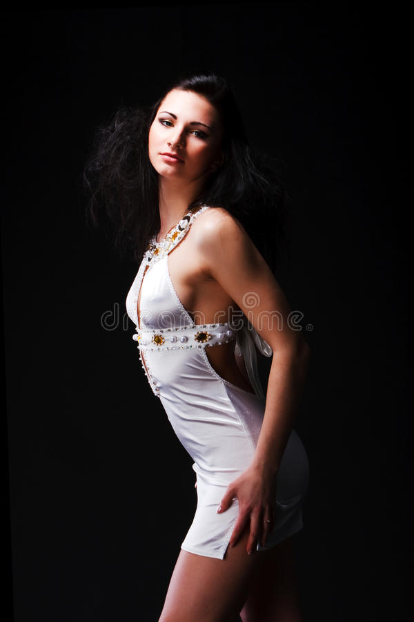 Download Beautiful Young Woman In White Dress Stock Photo - Image: 14599168