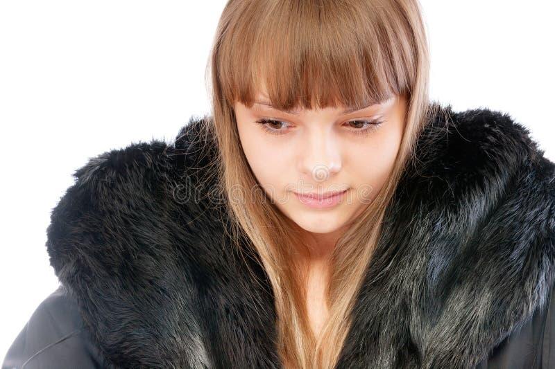 Download Beautiful Young Woman In Winter Fur Coat Stock Photo - Image: 13557258