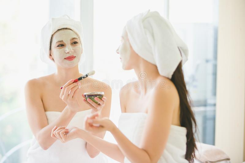 Beautiful woman spa stock images