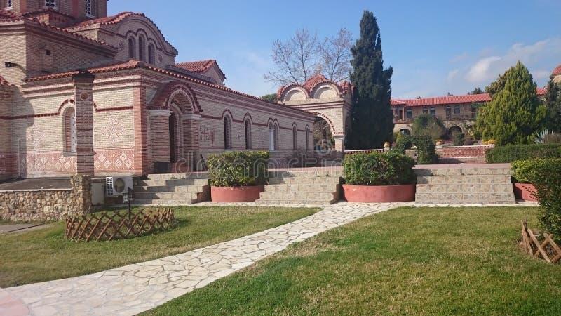 Beautifull希腊教会 免版税库存图片
