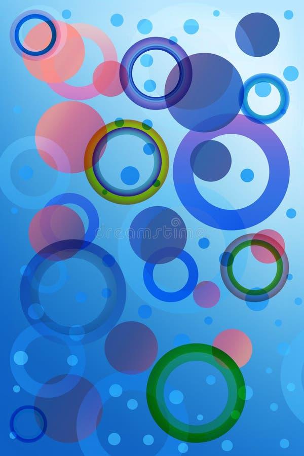 beautifull蓝色bokeh作用 免版税图库摄影