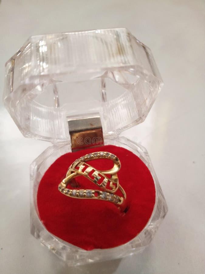 Beautifull box jewelery. Gold ring jewelry beautyfull box beautifull jewelery stock image