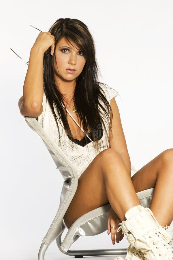Beautifull brunette stock photo