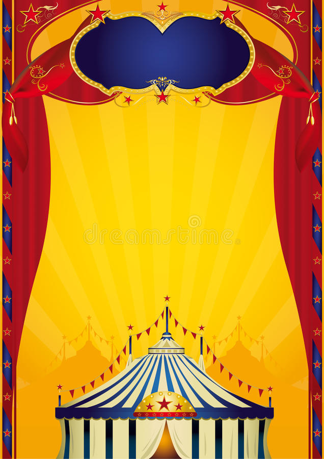 Beautifull circus poster vector illustration
