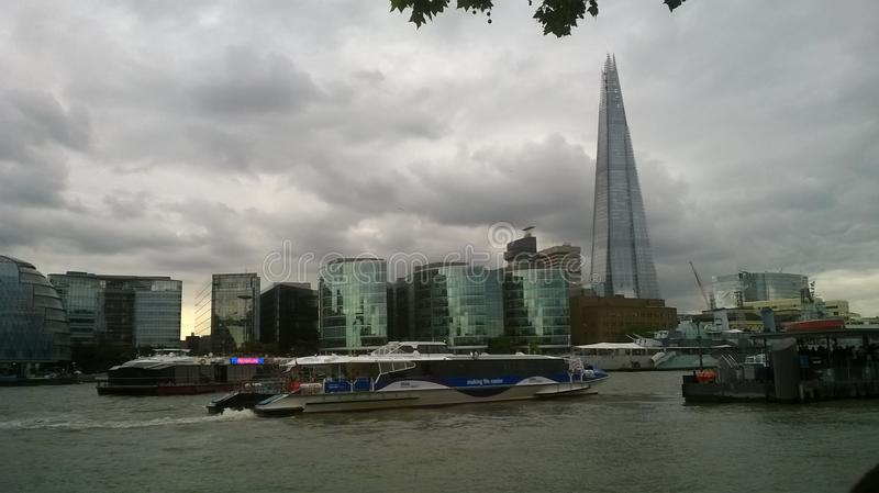 The cloudy London, The Skyscraper royalty free stock photography