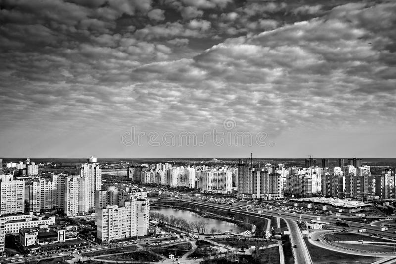 Beautifull cityscape panorama with skyscrapers, day, outdoor royalty free stock photos