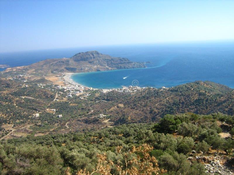 beautifull cretes岸 库存图片