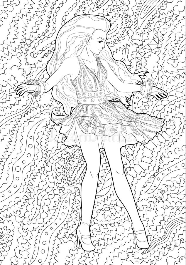 Flamenco Girl Coloring Page - Coloring Home | 900x634