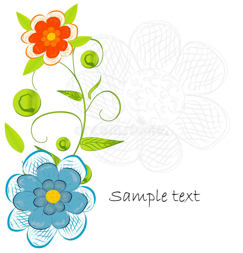 Download Beautifull Decorative Flower Background Stock Vector - Image: 18910713