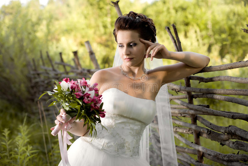 Download Beautifull  fiancee stock image. Image of bridal, outdoor - 26519221