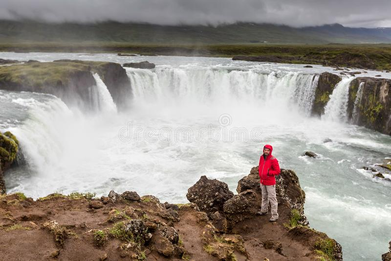 Beautifull Godafoss waterfall in Iceland stock photography