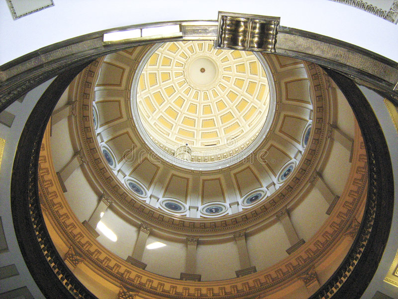 Beautifull indoor. Top of beautifull capitol building, Denver, CO USA royalty free stock images