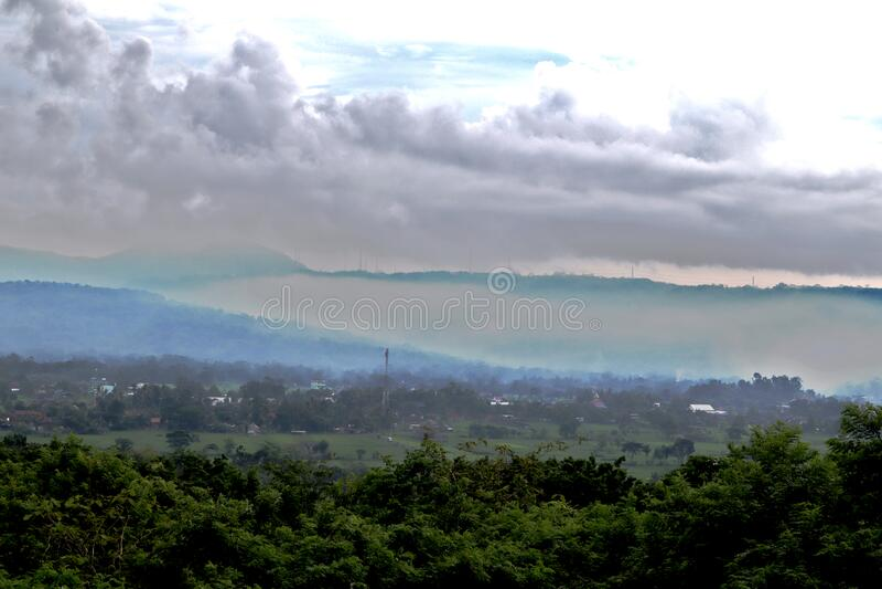 Beautifull landscape on gebang temple, Yogyakarta, Indonesia royalty free stock photo