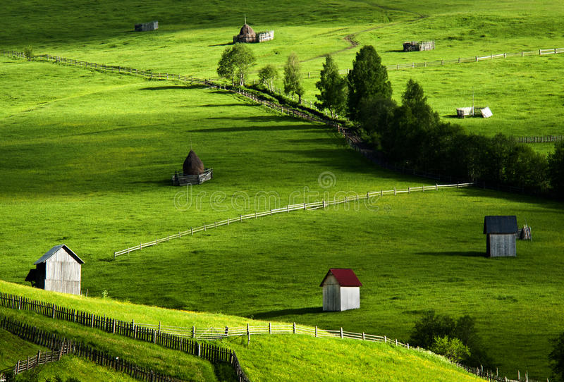 Beautifull landscape in North of Romania royalty free stock image