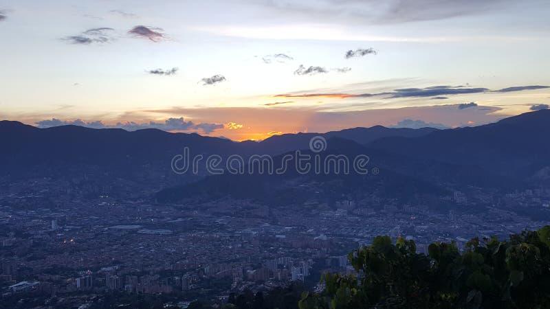 Amazing sunset royalty free stock image