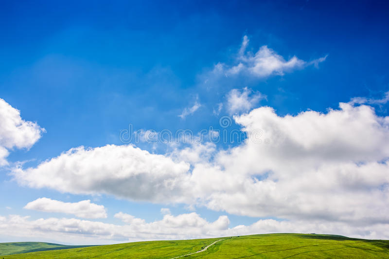 beautifull minimalistic summer mountain landscape in good weather stock images