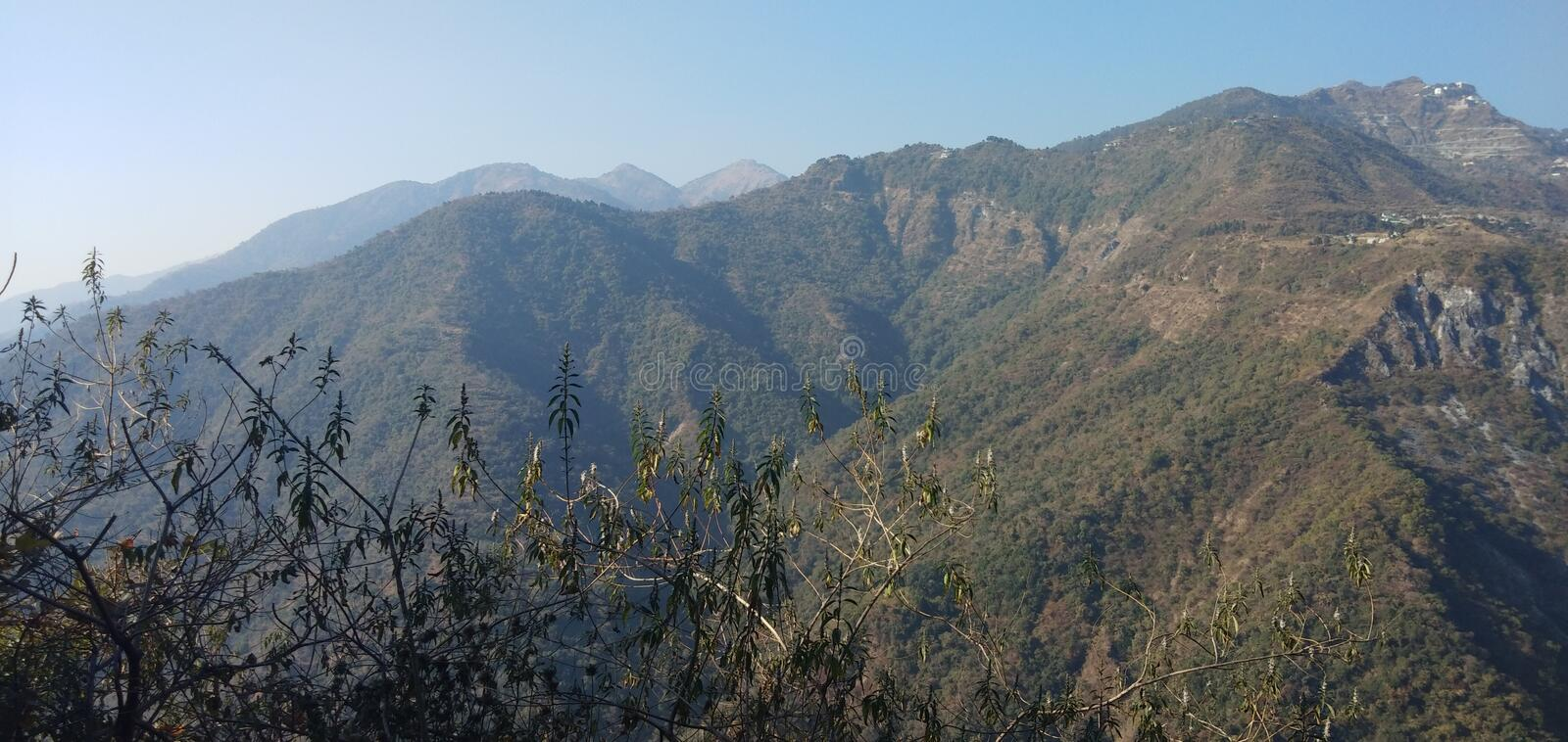This is beautifull nature view mussoorie royalty free stock image