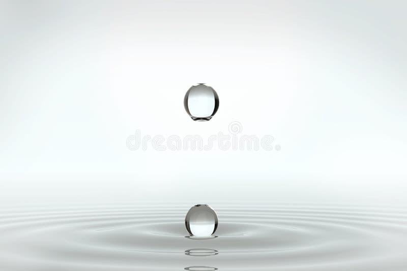 Beautifull om waterdalingen royalty-vrije illustratie