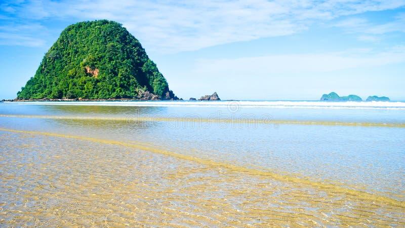 Beautifull sea in nature under blue sky. In banyuwangi Indonesia royalty free stock image