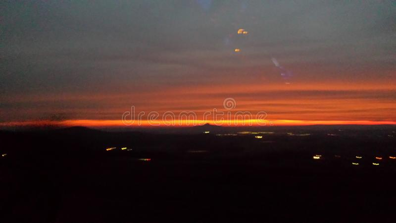 Beautifull Sunset in Southern Germany stock photography