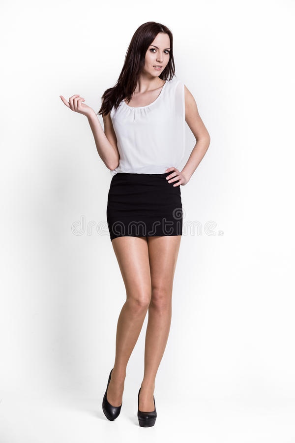 Beautifull Woman In Black Dress Royalty Free Stock Image