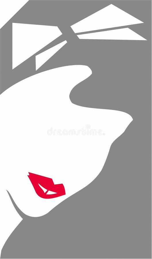 Beautifull Woman's Face. Face stock illustration